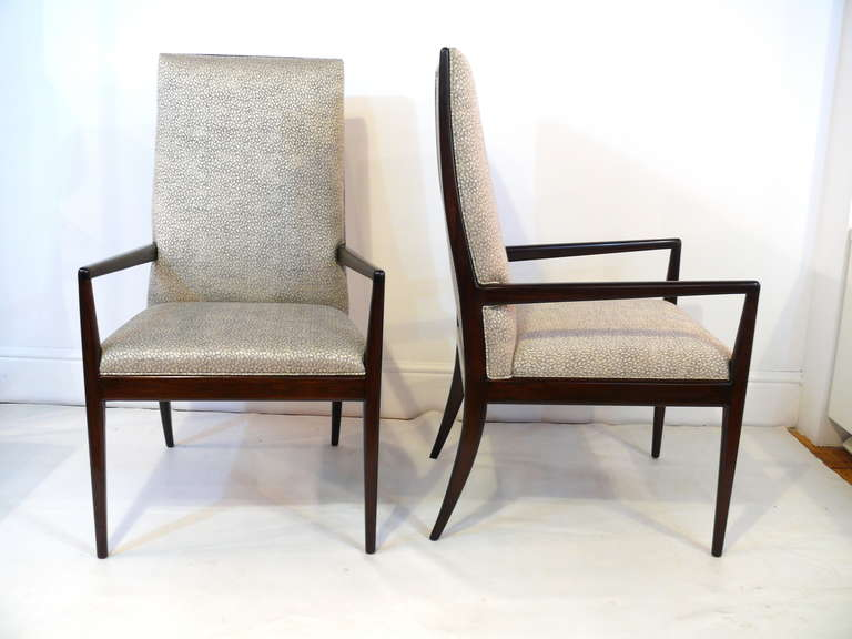 Pair of Highback Armchairs after T.H. Robsjohn-Gibbings 9