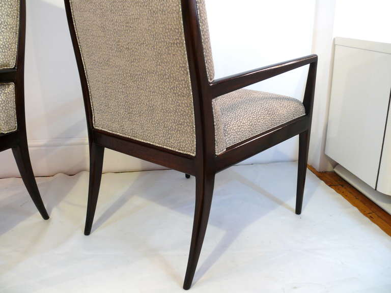Pair of Highback Armchairs after T.H. Robsjohn-Gibbings 8