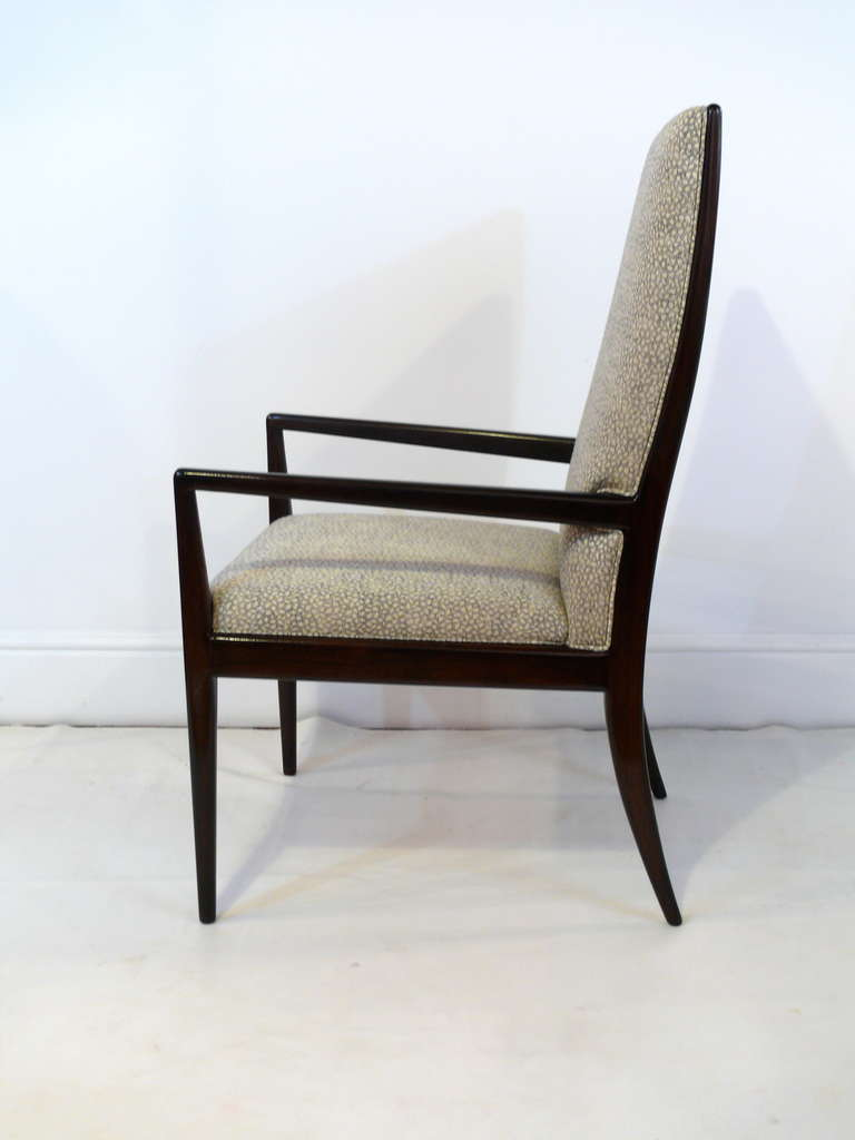 Pair of Highback Armchairs after T.H. Robsjohn-Gibbings 4