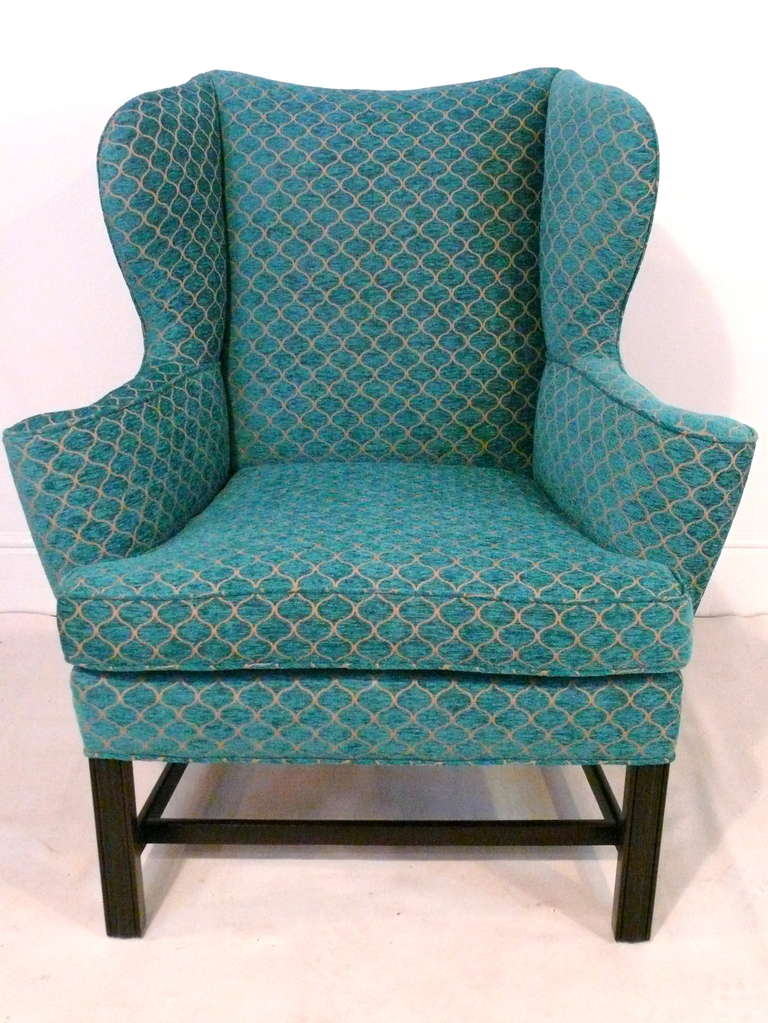 Pair of Curvaceous Wingback Chairs For Sale 3
