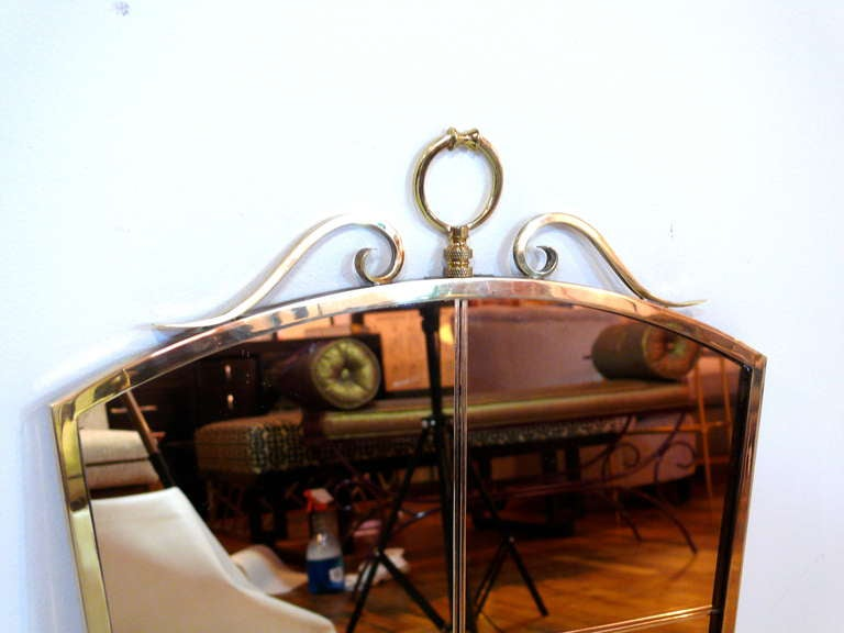 Fontana Arte Style Mirror For Sale 3