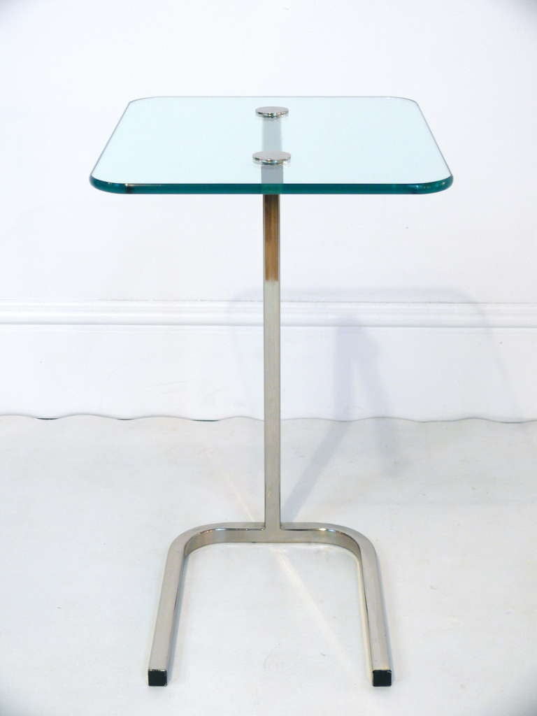 Chrome And Glass Pull Up Side Table At 1stdibs. Industrial L Shaped Desk. Joola Table Tennis. Modern Front Desk Designs. Little Tikes Desk With Chair. Target Console Table. Tv Table With Fireplace. Desk Chair Ergonomic Requirements. Home Office Desks For Sale