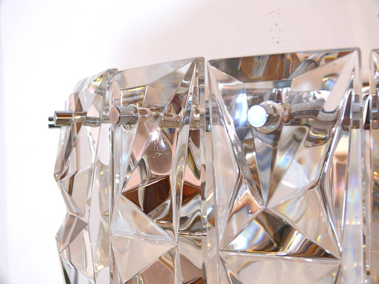 Pair of Prismatic Glass Sconces by Kindeley 4