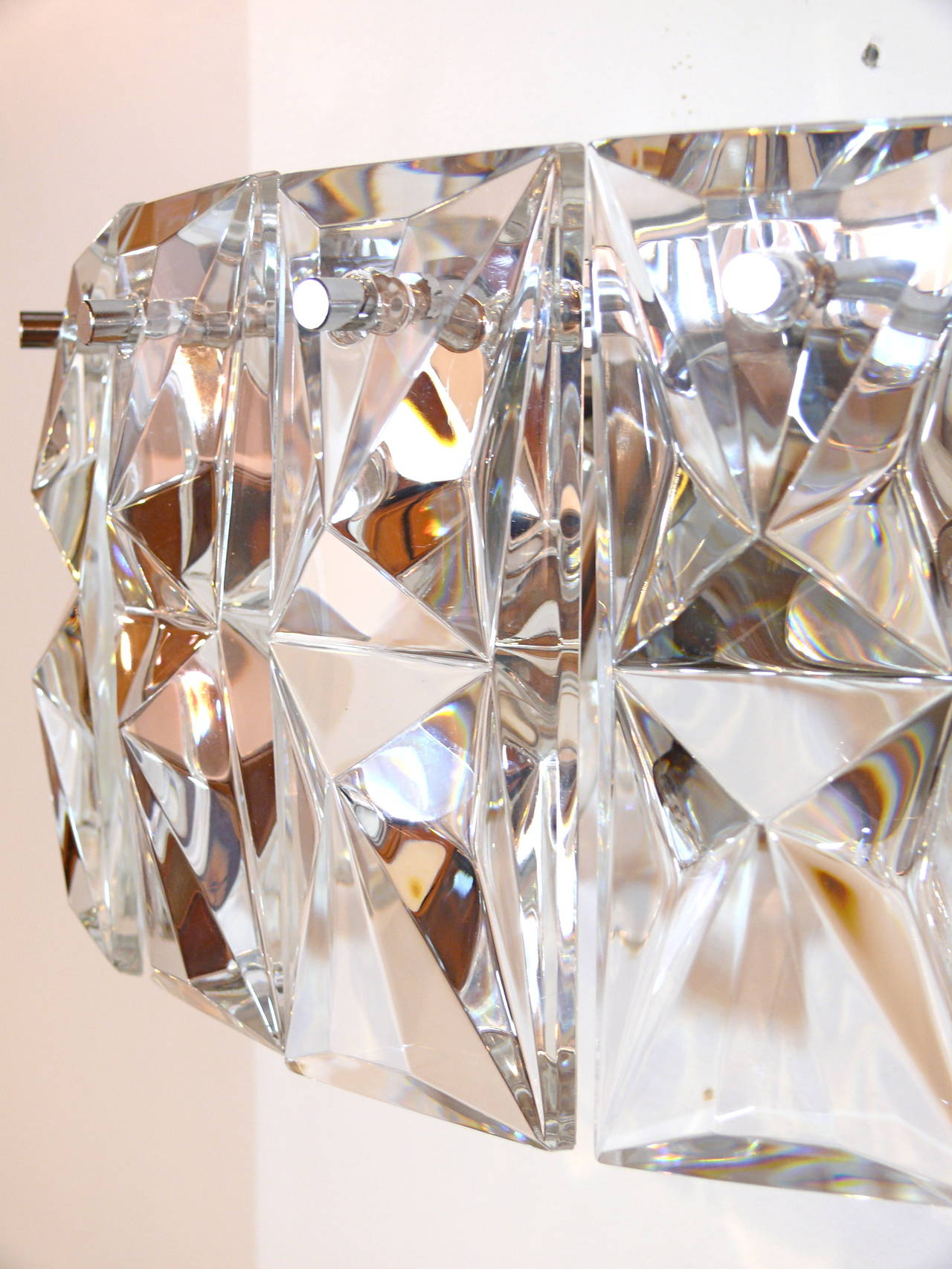 Pair of Prismatic Glass Sconces by Kindeley 5