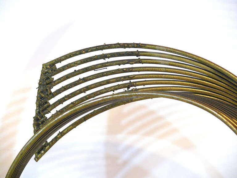 20th Century Curtis Jere 'Windswept' Brass Sculpture For Sale