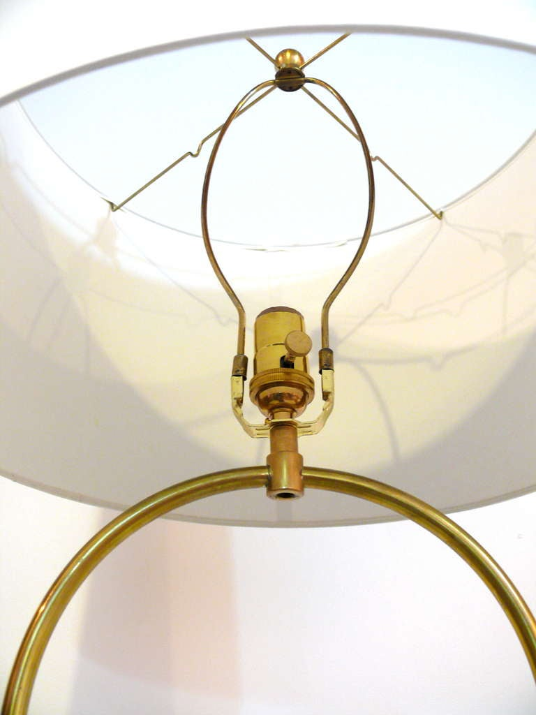 Pair Of Brass Tripod Floor Lamps At 1stdibs