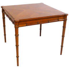 John Stuart Faux Bamboo Bookmatched Game Table