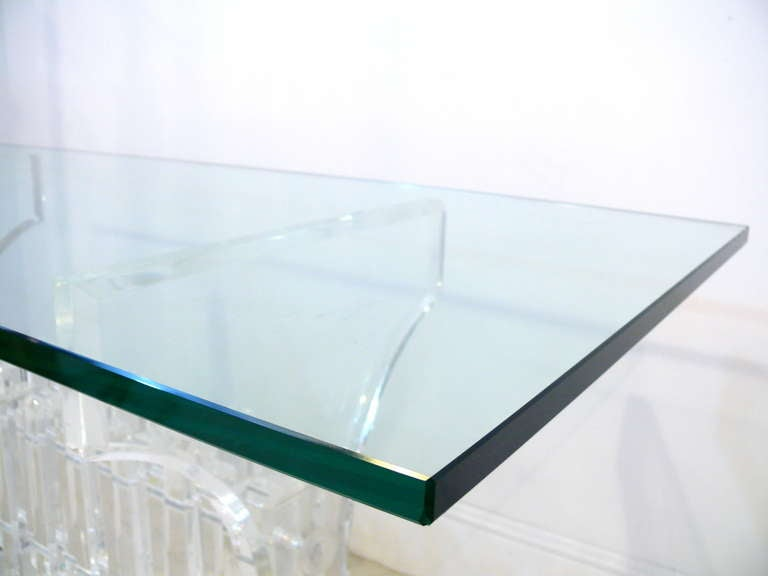 Extraordinary Lucite and Glass Console 10