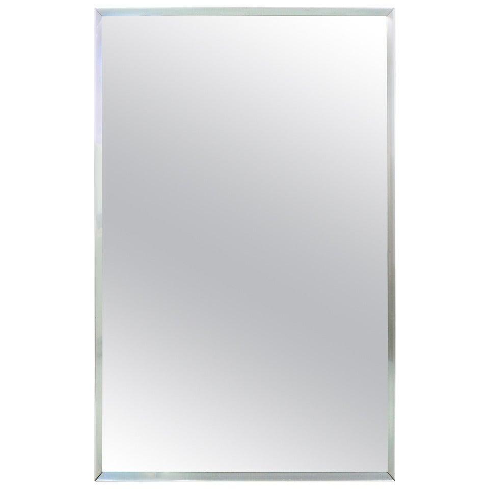 Mid-Century Aluminum Frame Mirror