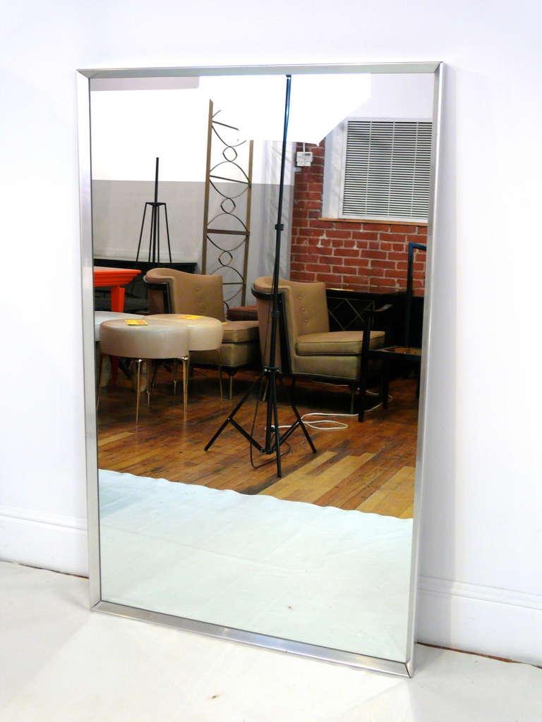 Mid-Century Aluminum Frame Mirror 3