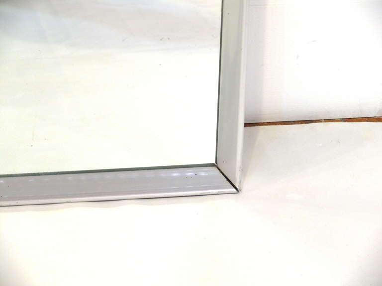 Mid-Century Aluminum Frame Mirror 4