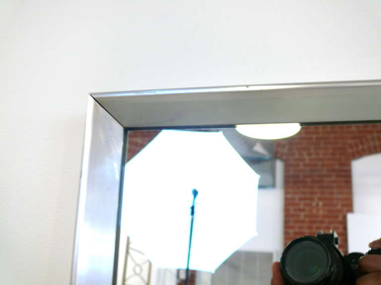 Mid-Century Aluminum Frame Mirror For Sale 3