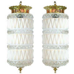Pair of Art Deco Style Pendant Lights