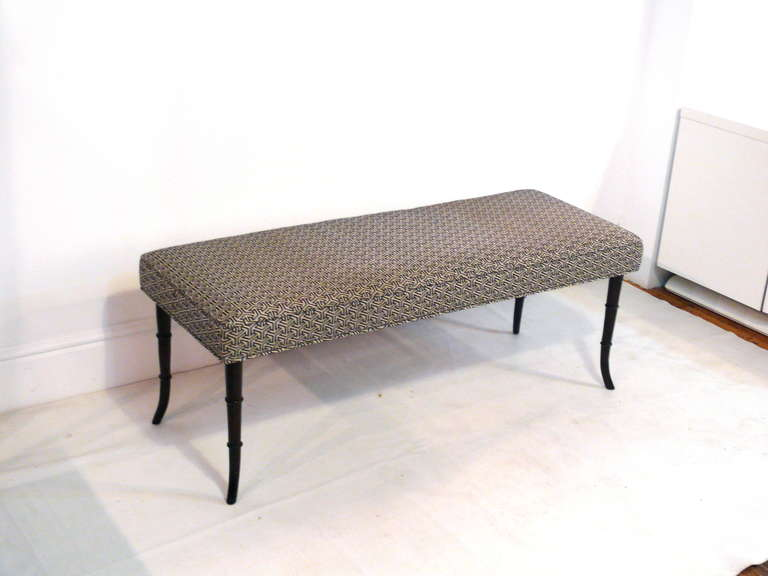 Faux Bamboo Mid-Century Modern Bench 10