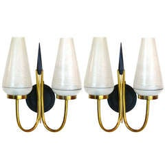 Pair of French Royere Style Sconces