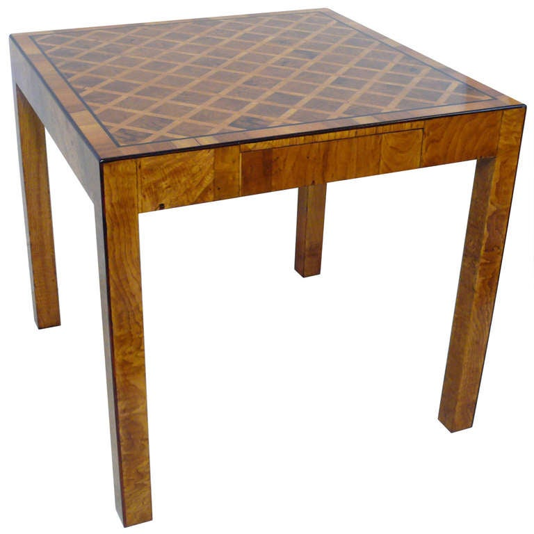 Marquetry game table at 1stdibs for 13 in 1 game table