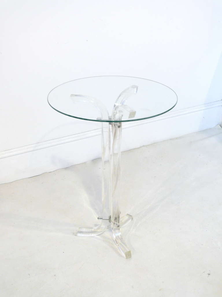 Swirl Lucite Side Table At 1stdibs