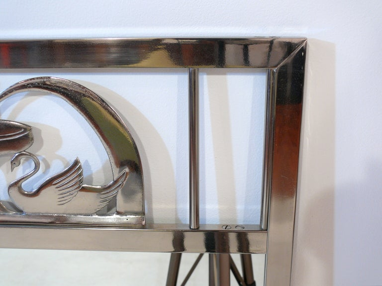 20th Century Art Nouveau Swan Mirror For Sale