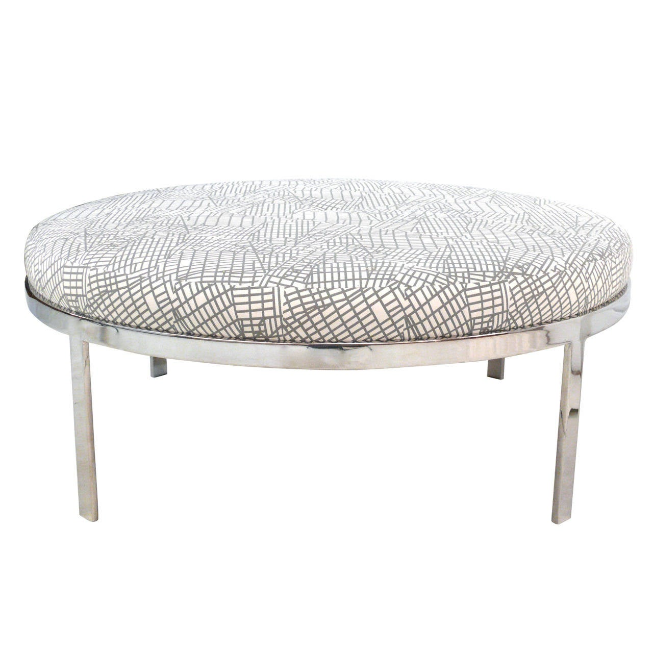 ottomans with storage milo baughman style steel ottoman at 1stdibs 10019
