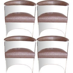 Lucite Barrel Chairs