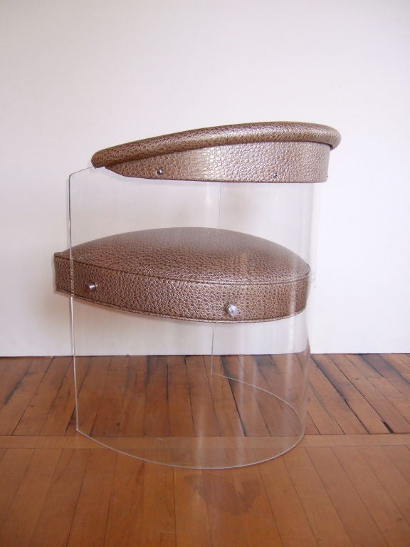 Lucite Barrel Chairs At 1stdibs