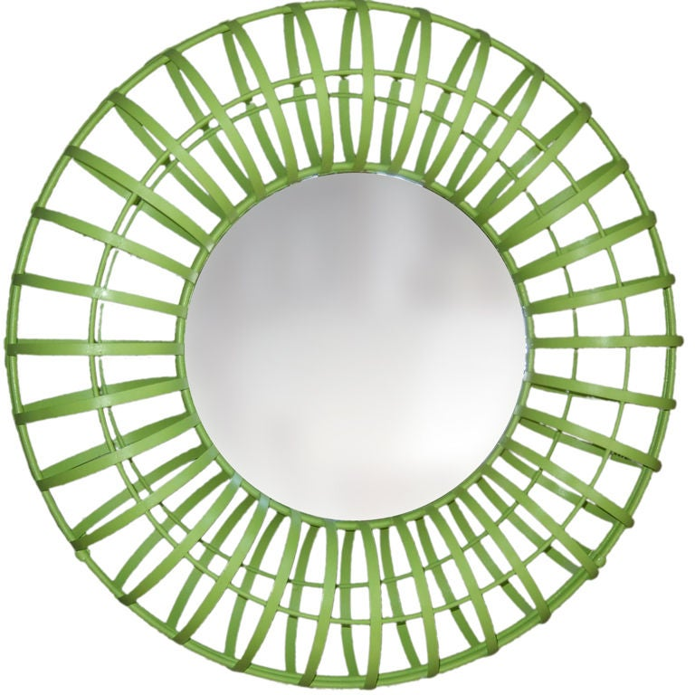 Round Lime Green Mirror At 1stdibs