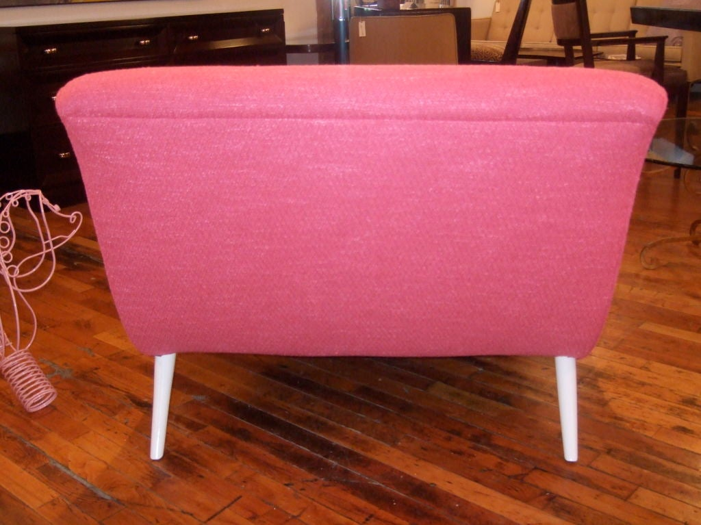 20th Century Hot Pink Curvy Chaise Lounge
