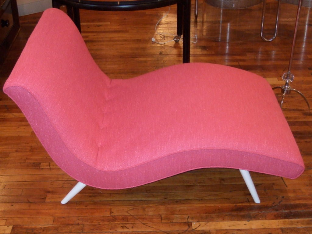 Hot Pink Curvy Chaise Lounge At 1stdibs