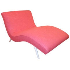 Hot Pink Curvy Chaise Lounge