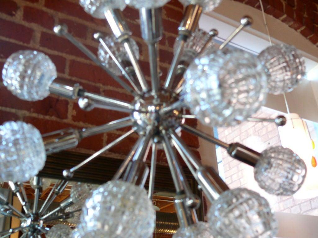 Italian Chrome Sputnik Chandelier 2