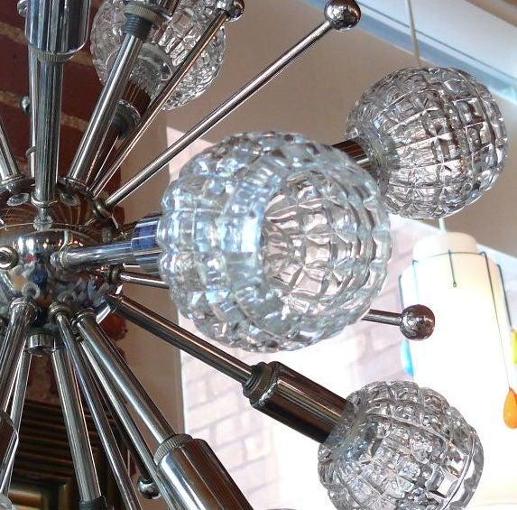Italian Chrome Sputnik Chandelier 3