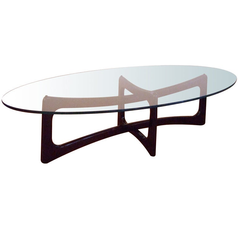Kagan Style Eliptical Coffee Table At 1stdibs