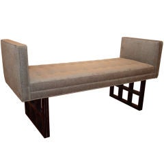 Cerused Oak Armed Bench