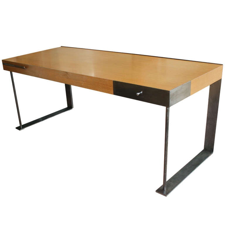 Steel And Wood Desk In The International Style 1
