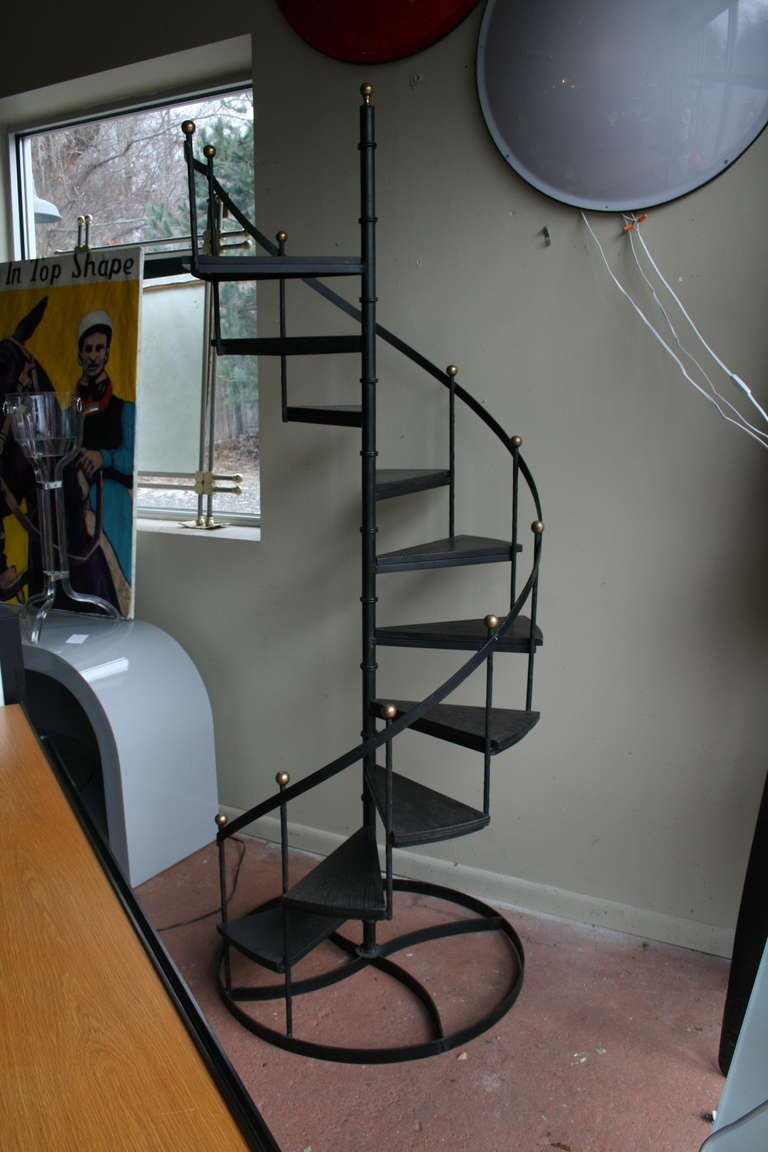 Wood And Iron Spiral Staircase image 2