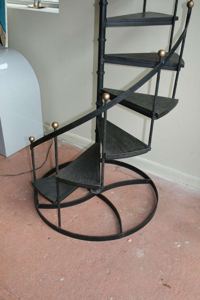 Wood And Iron Spiral Staircase image 3