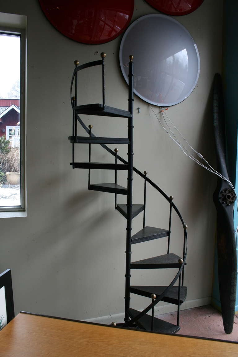 Wood And Iron Spiral Staircase image 6