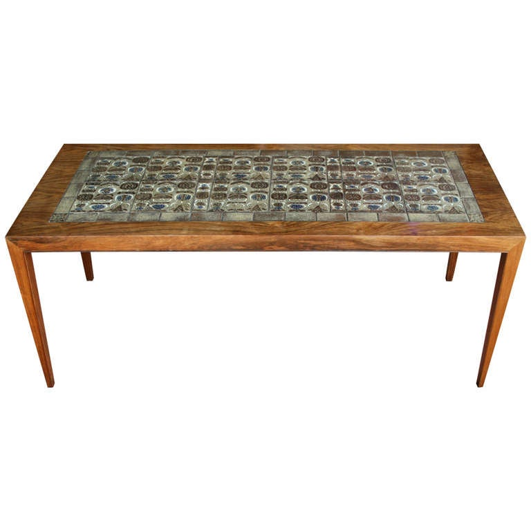 Severin Hansen Jr And Nils Thorsson Tile Coffee Table At 1stdibs