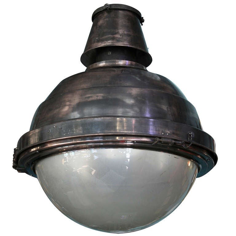 Copper and Glass Globe Ball Light