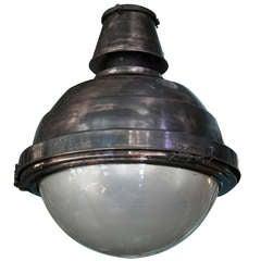 Copper and Glass Globe Ball Light