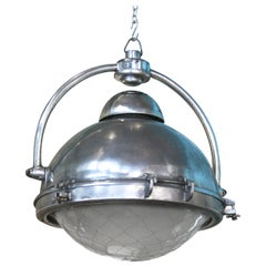 Large Steel and Bronze Toggle French Pendant Lights