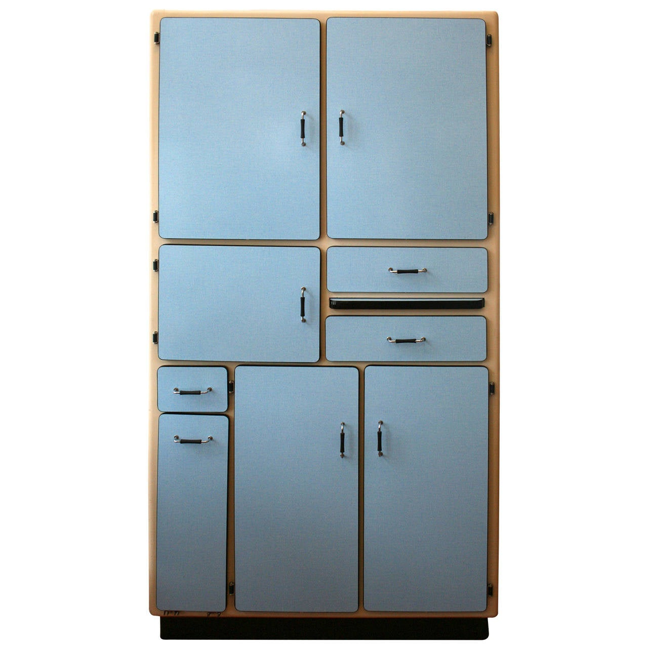 1950s French Kitchenette Ten Door Cabinet At 1stdibs