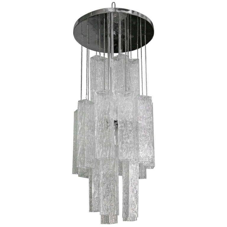 Venini Tronchi Glass Chandelier 1
