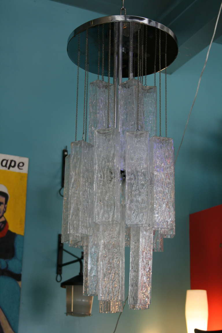 Venini Tronchi Glass Chandelier 2