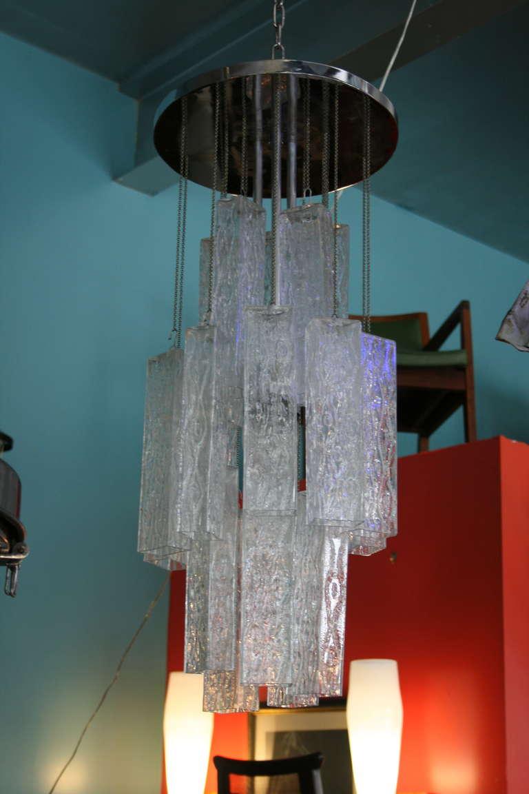 Venini Tronchi Glass Chandelier 3