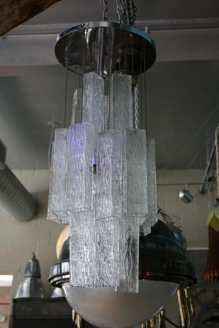 Venini Tronchi Glass Chandelier 4