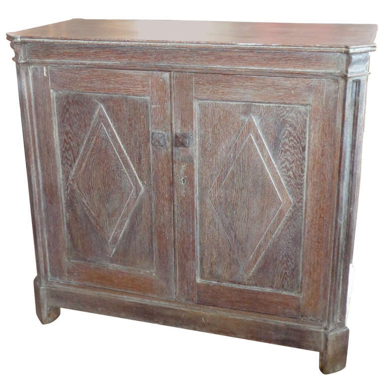 Cerused Oak Cabinet At 1stdibs