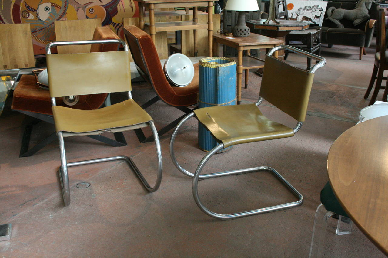 this set of six mr lounge chairs by mies van der rohe is no longer