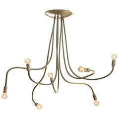Brushed Brass Meander Chandelier