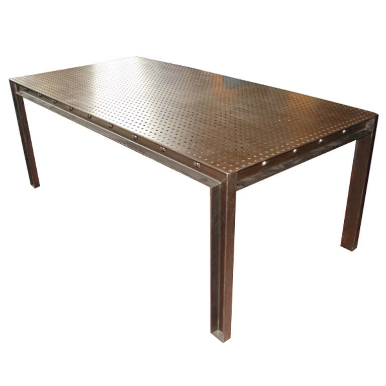 Dining table steel dining table - Steel dining room table ...